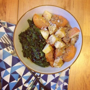 Kale, Apples and Sweet Potatoes