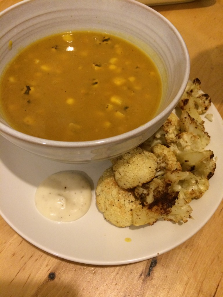 squash and corn soup
